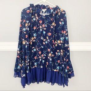 NWT Umgee Floral Long Sleeve Top